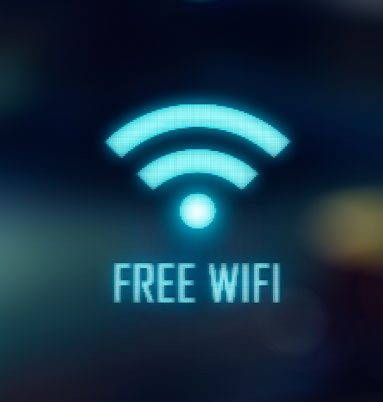 Free wifi blue logo
